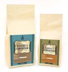 Label design for Topeca Origin by negro81