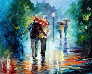 Let's Go Where It's Warm And Dry by L. Afremov by Leonidafremov