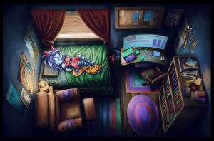 Zora's Bedroom by Benjamin-the-Fox