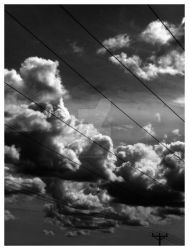 Clouds - black and white by miraculousm