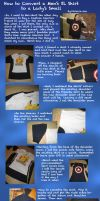 Tutorial: Altering a Man's T-Shirt to a Lady's by LauraDoodles