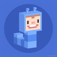 Cute caterpillar voxel character by m7