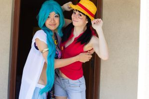 Vivi and Luffy Cosplay by firecloak