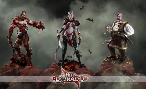 Hell Dorado Miniature Concepts by albino-Z