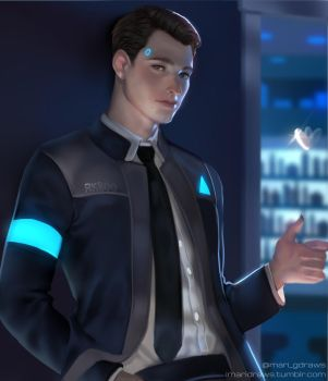 Detroit Become Human Connor by cosmogirll