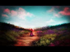 Speedpaint 15 - Lady on Path by GoldenOne