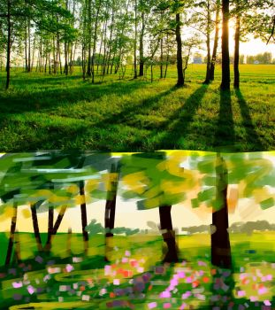 Color Study #5 - Sunny Grass/Forest/Flowers by ollieestuff