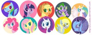 My Little Pony Buttons by shucakes
