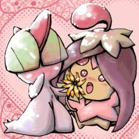 Ralts and Cherrim Oekaki