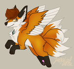 Kitsune commision part 1 by TropicaIDeer