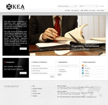 KEA Group website design by ohmto