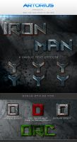 Iron Man Text Styles by ArtoriusGothicus