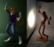 Dancing by myself comparison by Foxenawolf