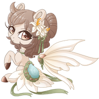 Easter Lily Chibi {Extra} by AlimareEmpire