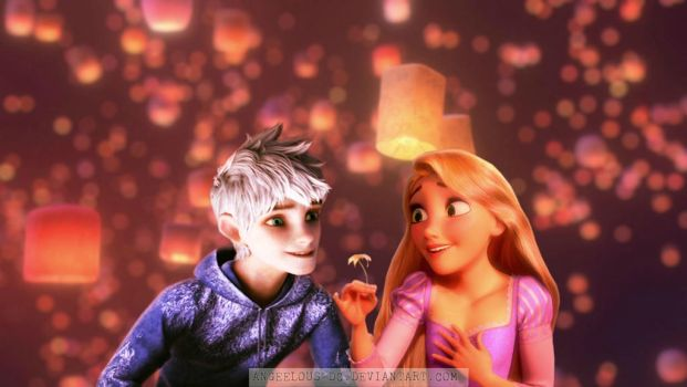 Jack Frost/Rapunzel - Happy Valentine's Day by angeelous-dc