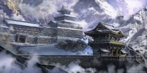 Temple Mountains by Dlestudio