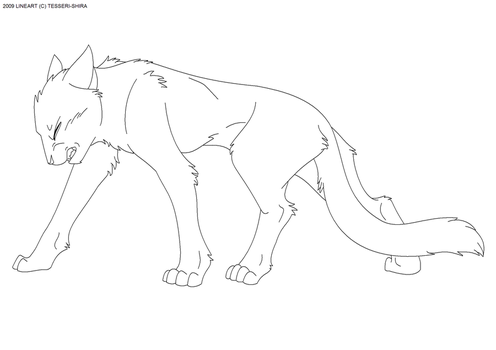 Push Through Free Cat Lineart by Nova-Nocturne