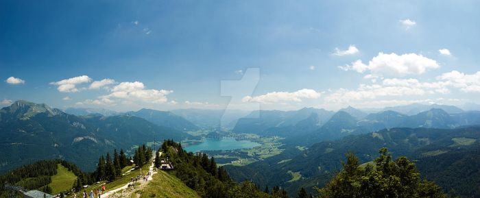 Wolfgangsee Cable Car by clush