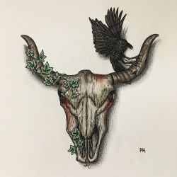 Bull skull // casual creepy design by MajesticPaula