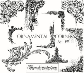 Ornamental Corners set 2 by Lileya