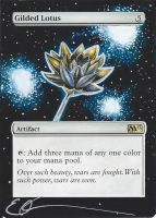 mtg Altered - Gilded Lotus in space by ClaarBar