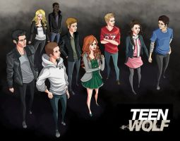 Teen Wolf - The Pack by Youko-Shirokiba
