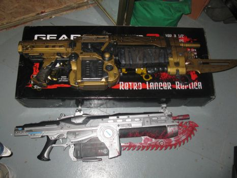 The New Gears of War 3 lancer by FloppyTy