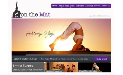 On-The-Mat Studio - Home Page Layout Design by shadicasper