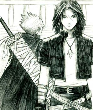 Cloud and Leon by Lizeth