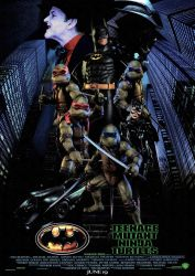 Batman/Ninja Turtles 1990s Movie Poster by GeekTruth64
