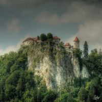 Castle in the Alps 2 by Gibbich