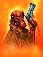 Hellboy-J Scott Campbell-color by SplashColors