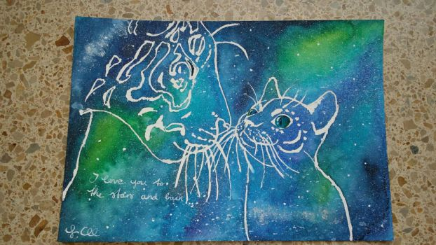 Space Cats by CaraChloeCathleen