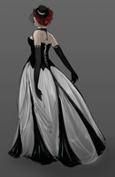 Gothic Wedding Dress by daestwen