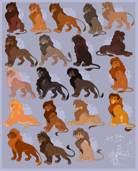 Male Adult TLK Style lion adoptables! by Kitchiki