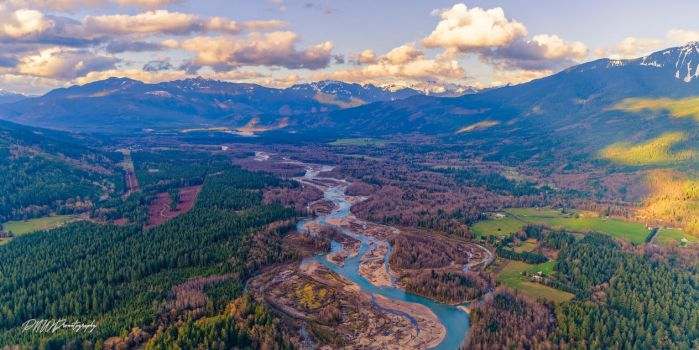 River Valley by PNWDronetography