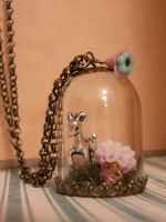 little deer dome necklace by Tariray