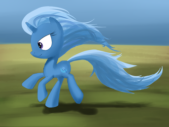 Running Trixie by Andergrin