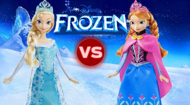 Elsa Vs Anna pelea de hermanas en Youtube by munecasTV