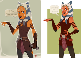 Ahsoka Comparison by Sylthian