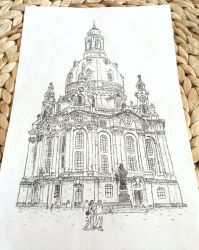 Typewritten Frauenkirche - Dresden by lordnkon