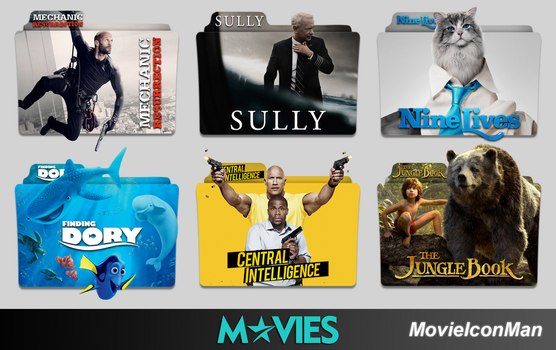 Random Movies Folder Icon Pack #4 by MovieIconMan