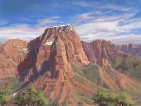 Sketchbook - Mountain/Color Study by Changinghand