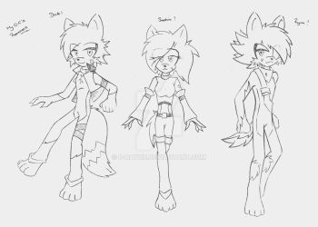 Character References ~ (Sketchy) by D-Rayne