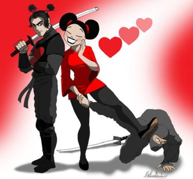 Pucca and Garu by axemeagain