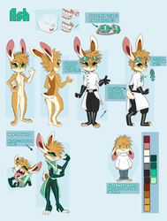 Ash 2018 Ref sheet by Skeleion