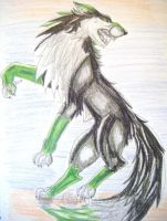 Back off - severus wolf by Rianne2k8