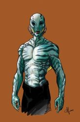 Abe sapien sketch by clefchan