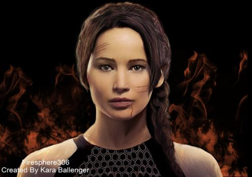 Katniss-Catching Fire by Firesphere306