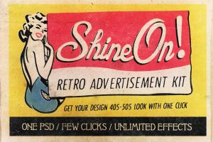 Shine On - Retro Advertisement Kit by absolut2305